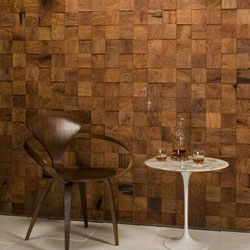 Menarik Membuat Dinding dari Potongan Kayu - Kumpulan Artikel / Tips