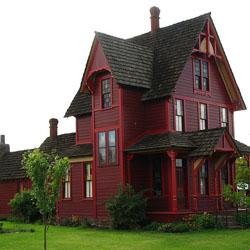 bangunan merah paling segar