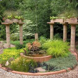ciri taman yang menggunakan gaya eropa dan mediterania