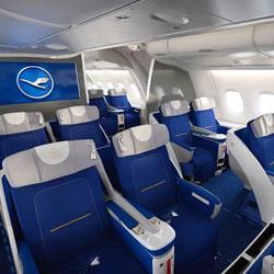 interiors pesawat terbang kelas bisnis tingkat internasional