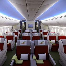 interior pesawat terbang kelas bisnis tingkat internasional