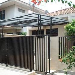 jasa pembuatan pagar bangunan besi stainless kayu